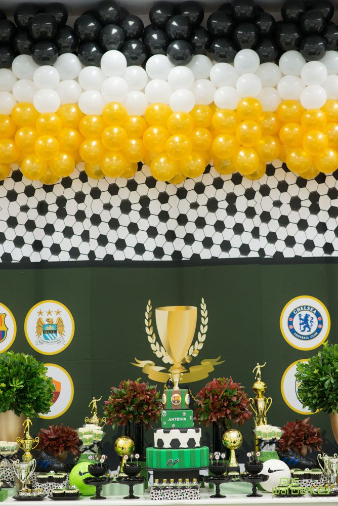 Festa Infantil Tema Futebol Champions League Birthday Party