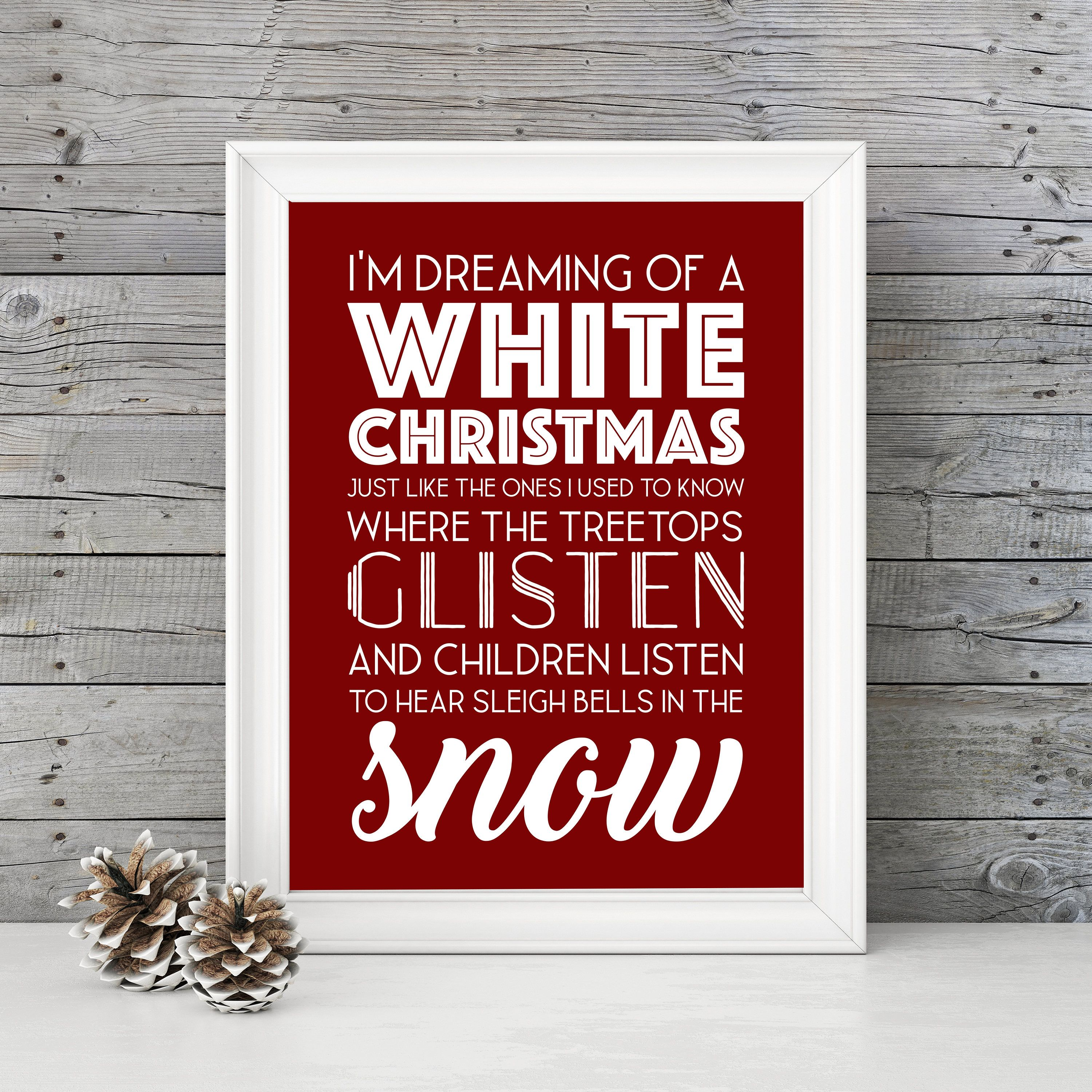 For Sale On Etsy White Christmas Im Dreaming Of A