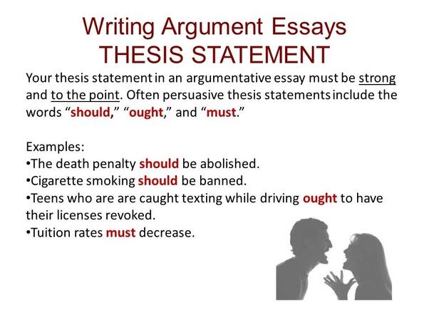 Writing Argumentative Essays Argumentative Essay Writing Argumentative Essays Thesis Statement Examples