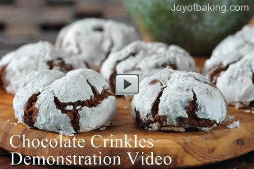 Chocolate Crinkles Video Recipe - Joyofbaking.com