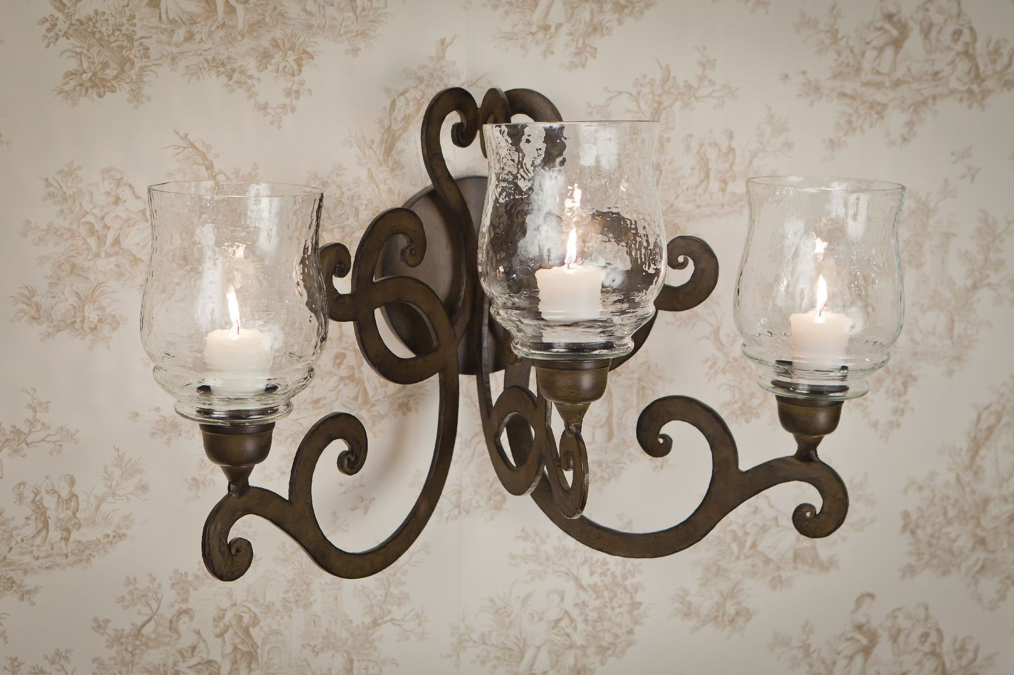 Bronze 3 Lite Scroll Wall Sconce Me2283  Products Sconces And Stunning Candle Wall Sconces For Dining Room 2018