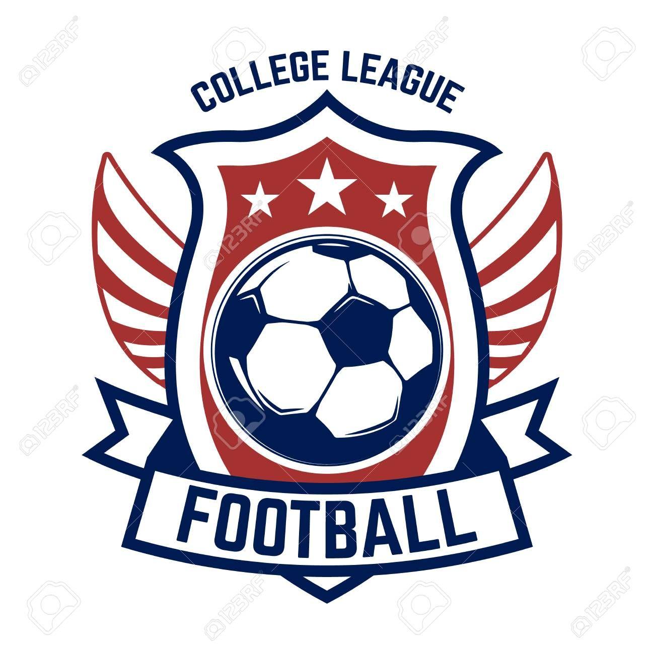 Soccer Football Emblems Design Element For Logo Label Emblem Sign Vector Illustration Sponsored Design Element Vector Logo Design Element Logos