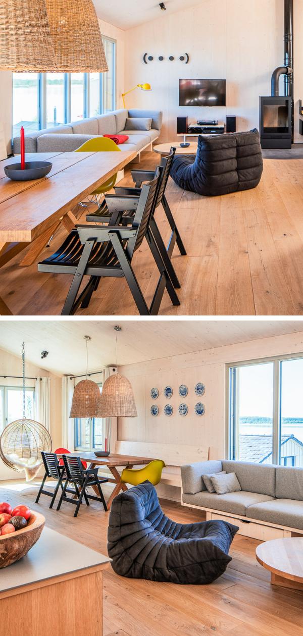 Modernes Interieur und ein offene Wohnatmosphäre