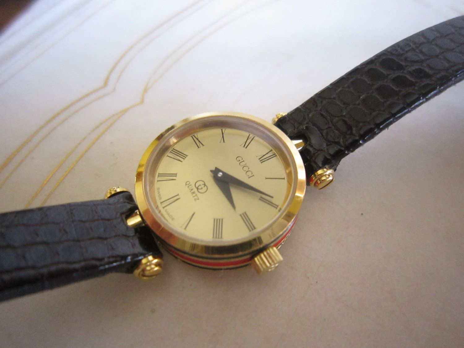 61dc455e37b Vintage Gucci Watch My Sister Jill and I both had these in 1985.