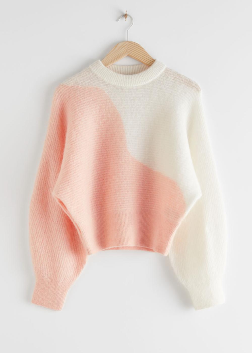 Colour Block Wave Sweater In 2020 Wave Sweater Sweaters Knitwear
