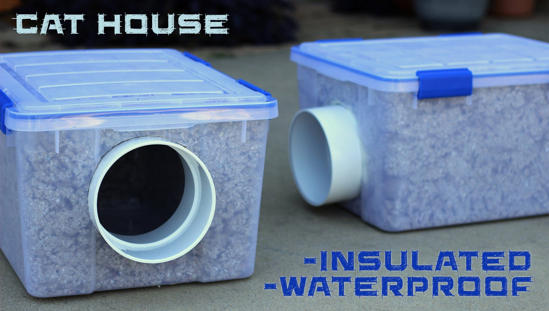 Instructions on how to build an insulated and waterproof cat ... on heated cat house plans, outdoor cat house plans, feral cat winter shelter plans, insulated rabbit house plans, insulated dog house plans,