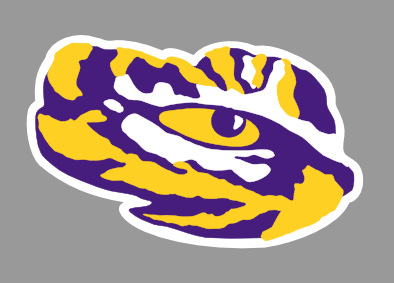 Painting Like An Artist With The Silhouette Geaux Tigers