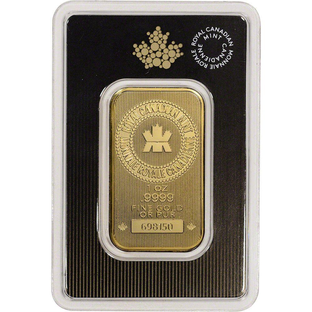 1 Oz Gold Bar Royal Canadian Mint Rcm 9999 Fine In Assay Ebay Gold Bar Gold Bars For Sale Mint Gold