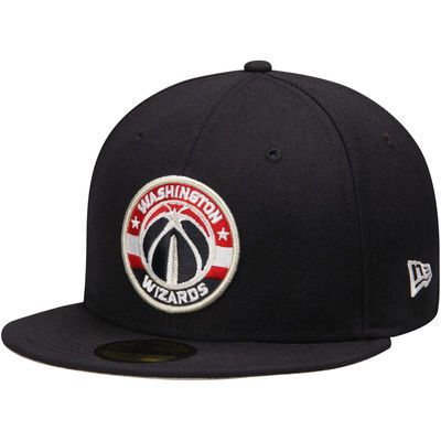 low priced 98750 b1203 Washington Wizards New Era Current Logo 59FIFTY Fitted Hat - Navy