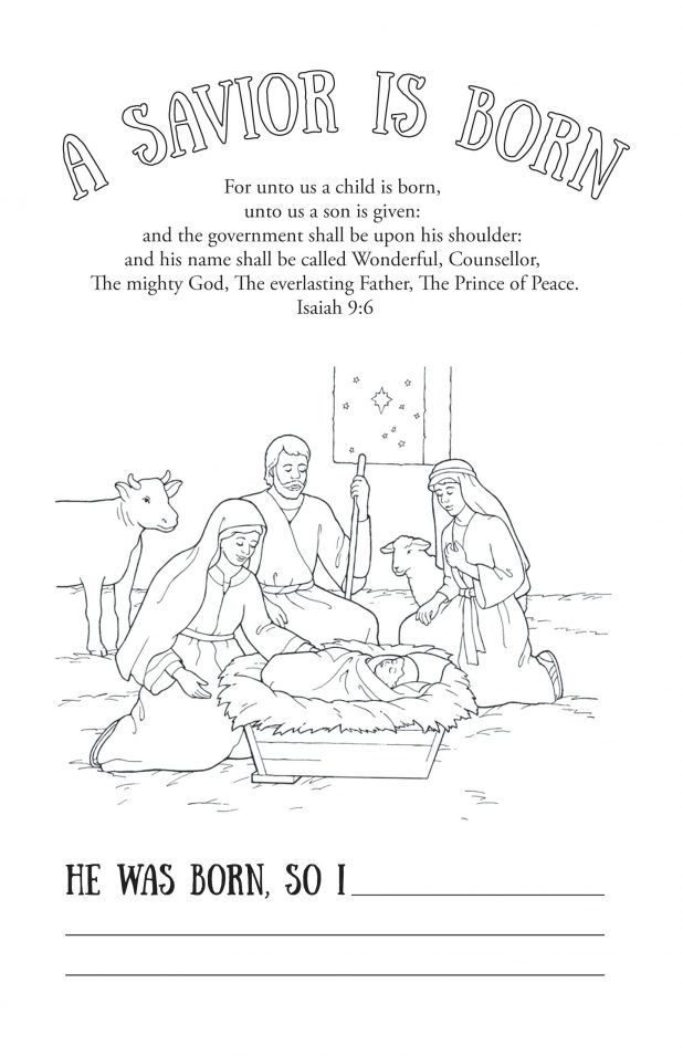 Savior Born Coloring Page Thomas S Monson | Church | Pinterest ...