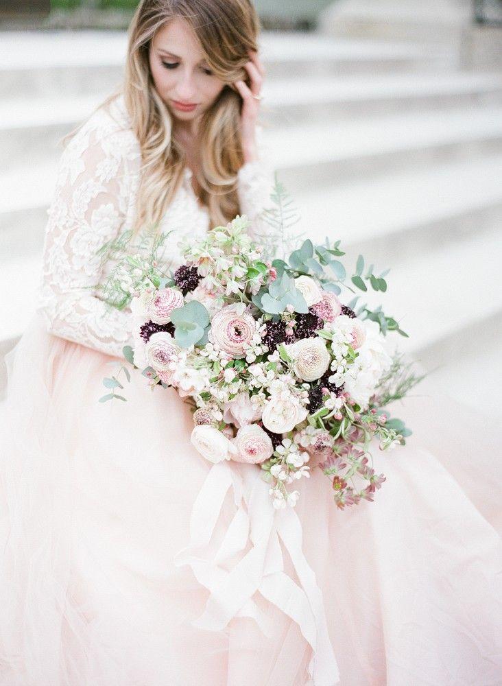 Amanda And Cole S Paris Wedding Wedding Sparrow Blush Pink