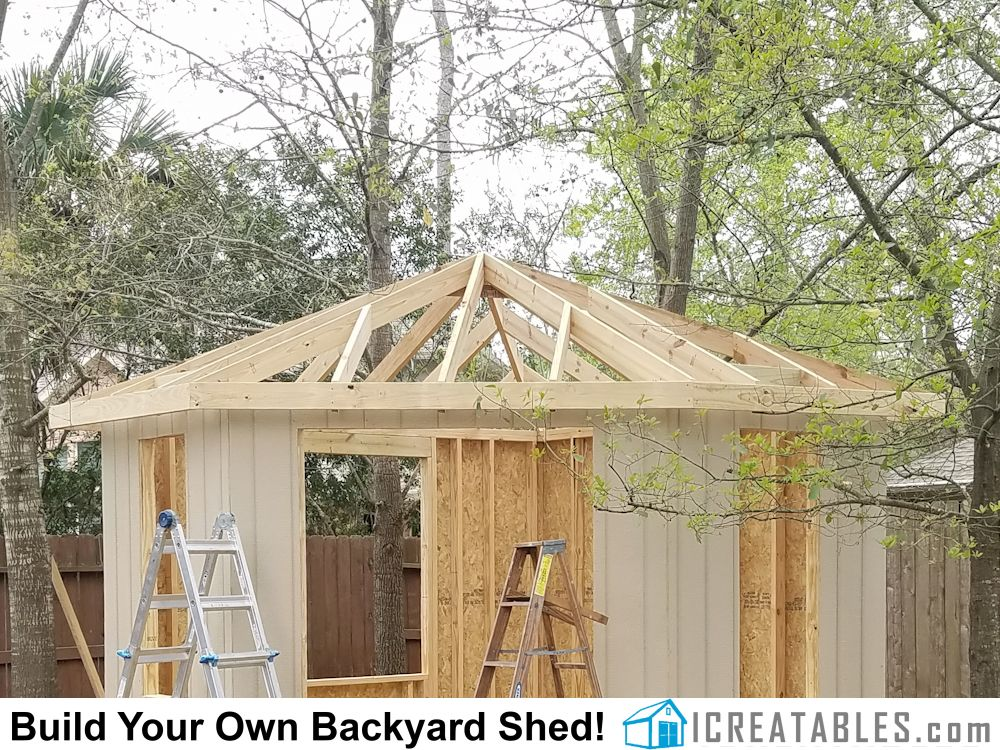 Hip Roof Shed Plans Photo Gallery In 2020 Hip Roof Shed Shed Plans