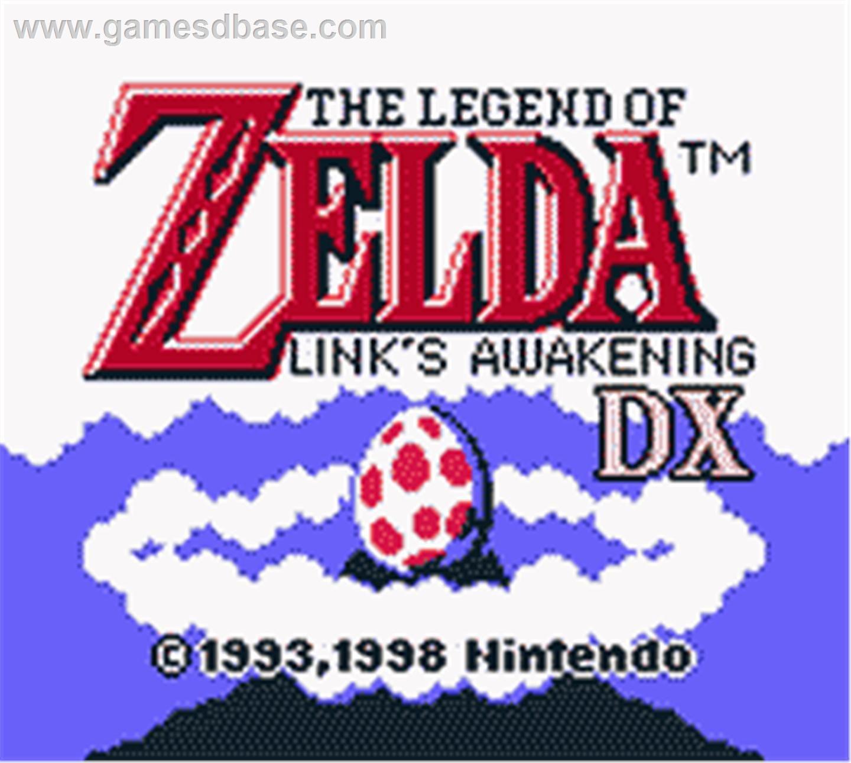 Game boy color legend of zelda - Title Screen Of Legend Of Zelda Link S Awakening Dx On The Nintendo Game Boy Color