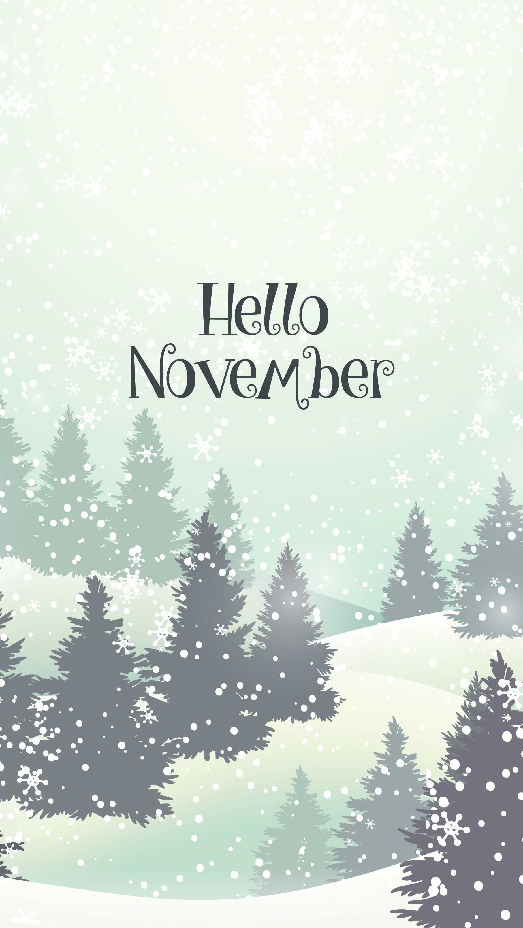 November Backgrounds phone wallpapers, Calendar