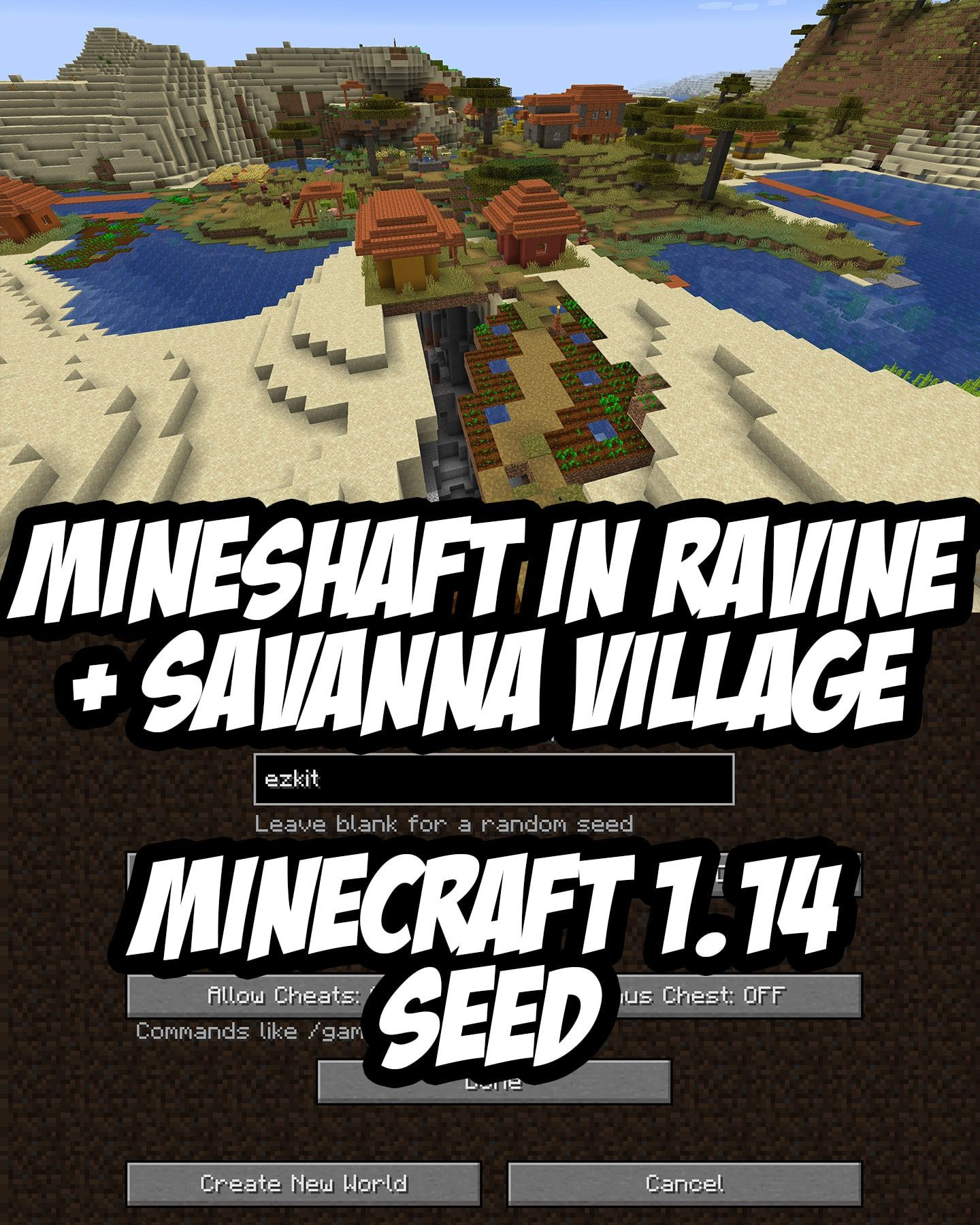 Minecraft 1 14 Abandoned Mineshaft Seed Ezkit 97016321 Minecraft Seed Minecraft Minecraft Blueprints