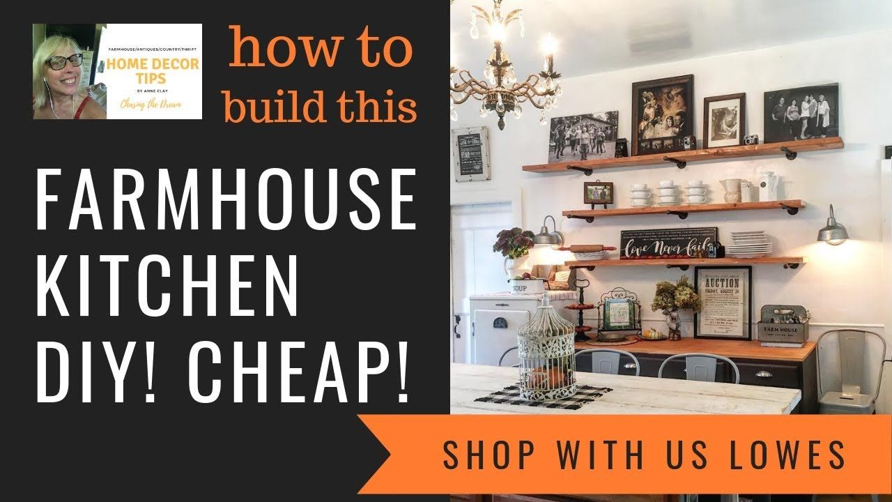 Farmhouse Style Kitchen, DIY, How to, Build ON A BUDGET