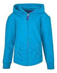 Hanes Girls' Full-Zip Hooded Sweatshirt