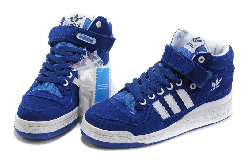 4d77d611ce5 Adidas Originals Forum LO RS Mid Shoes White Blue
