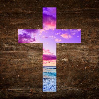 The cross of life religious beach god jesus wood faith