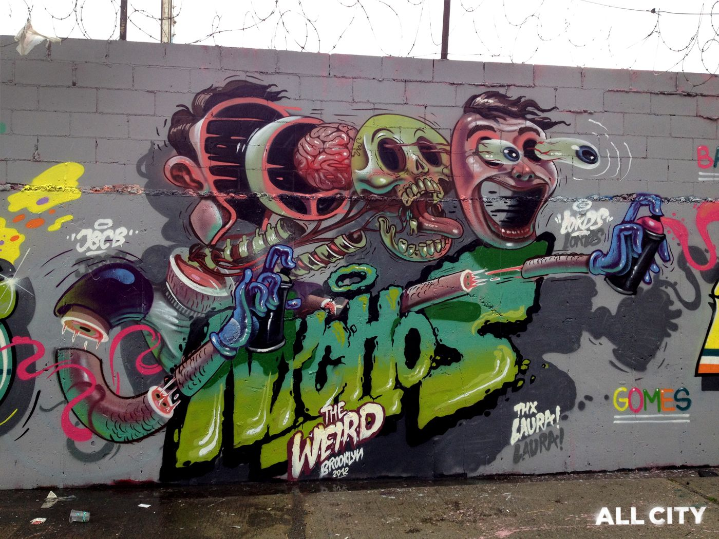 Nychos From Vienna This Wall In New York Signature Cross Section Style Sick