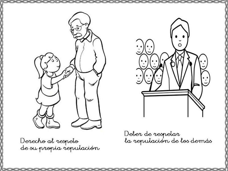 Dibujos Para Colorear Derechos Y Deberes Del Nino Colorear Idioms Comics Memes