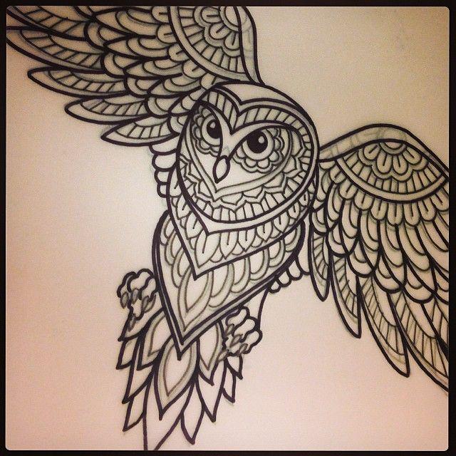 Na Sleduyushej Nedele Tattoo Tattoodesign Mehndi Mehnditattoo Owl Design Drawing Sketch Linework Domholmestattoo Tattoos Mehndi Tattoo Tattoo Designs