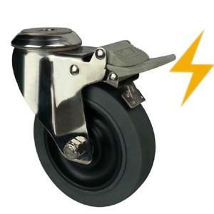 Stainless Steel Esd Caster Wheels Bolt Hole Ss59bsb 3 4 5 Stainless Steel Caster Ind Stainless Steel Casters Steel Caster Wheels Industrial Caster Wheels