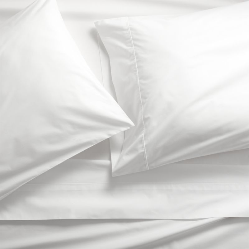 Our Highest Thread Count To Date Made From Supremely Soft Percale Cotton Pure White Sheets Make A Very Luxurious Bed Pima 415