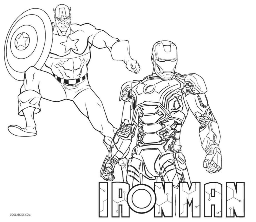 Iron Man Coloring Pages Avengers Coloring Pages Captain America