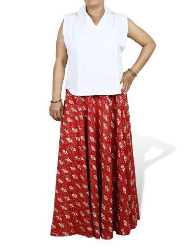 Gypsy Skirt Red Long Cotton Block Print Summer Dresses For Women Size M ShalinIndia,http://www.amazon.com/dp/B00CC7LX1O/ref=cm_sw_r_pi_dp_LGQitb0F5GPF7M6R