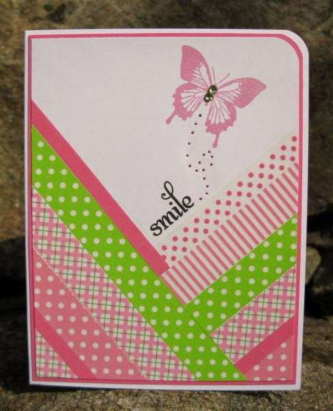 Smile - Washi Tape | Cards: Washi Tape | Washi tape cards ...