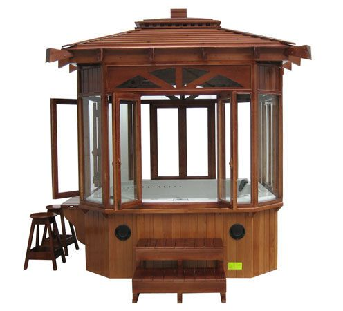 hot tub gazebos and canopies | Hot tub gazebos are equipped with all the necessary safety features ...