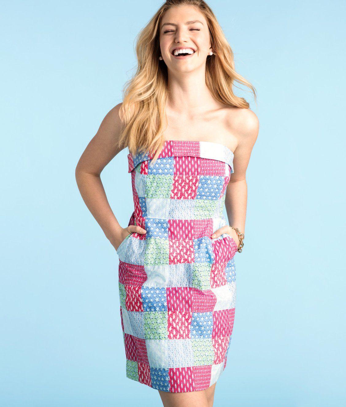 80340d1fa4 Heritage Original Patchwork Strapless Dress | Women's Fashion in ...