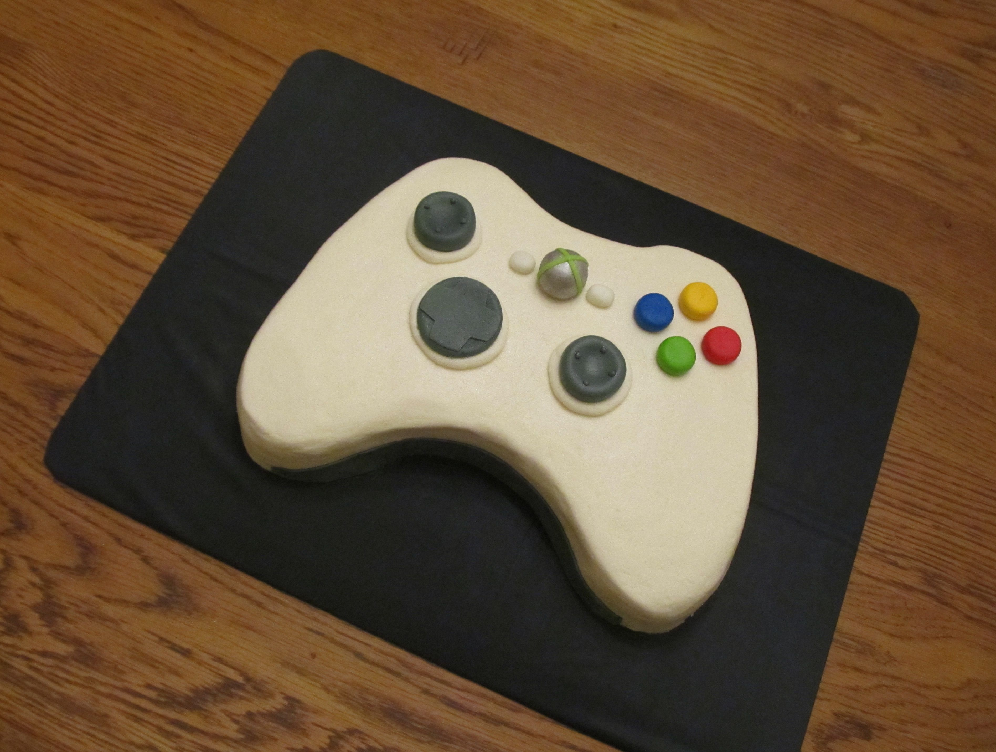 Xbox controller cake 9 x13 cake that i cut into shape of an
