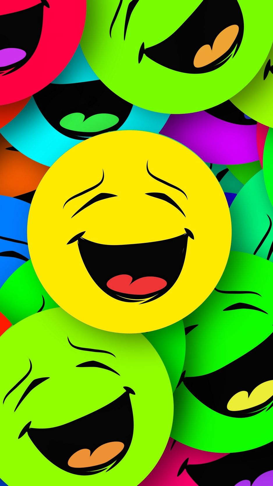 Smilies, smiles, colorful, emotion wallpaper, background