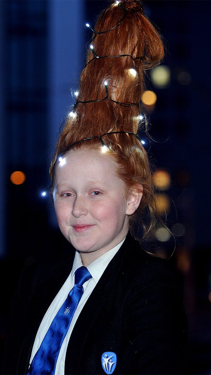 Girl ordered to undo 'inappropriate' Christmas hairstyle by school principal