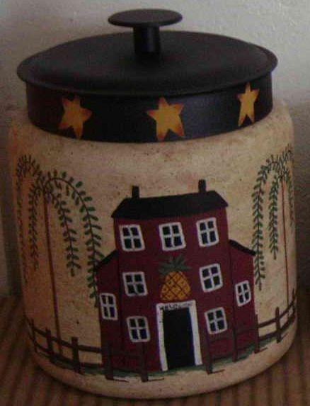 Rustic Cookie Jar Fascinating Primitive Country Rustic Saltbox Cookie Jar Saltbox Houses