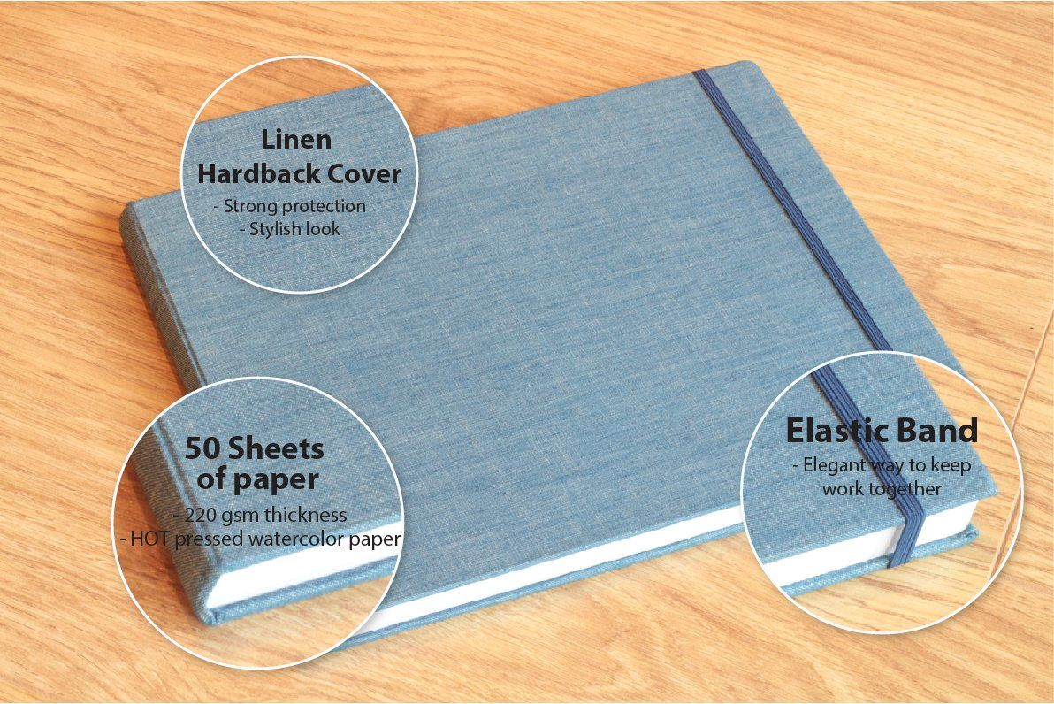 Watercolor Pad Size 8 5 X 11 0 Inches 50 Sheets Hotpressed Paper