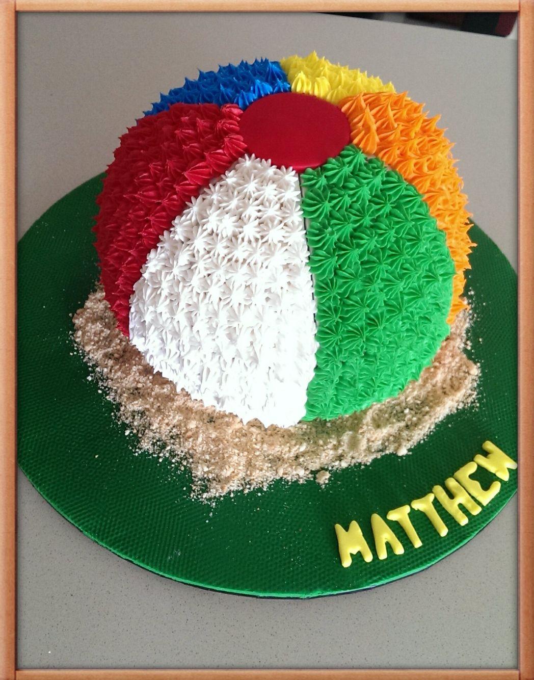 Beach Ball cake | Beach ball birthday, Beach themed party ...