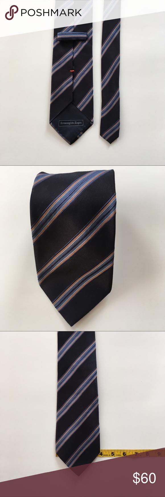 1a9567f6 Ermenegildo zegna tie made in Italy silk pa0087   My Posh Picks ...