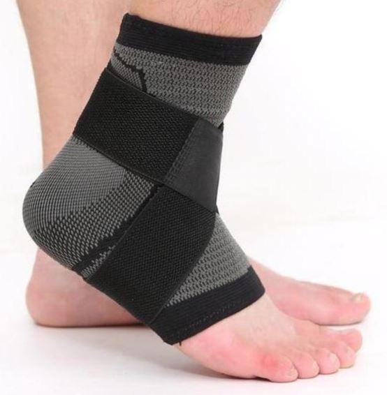 3D Adjustable Ankle Support Brace – Black / XL