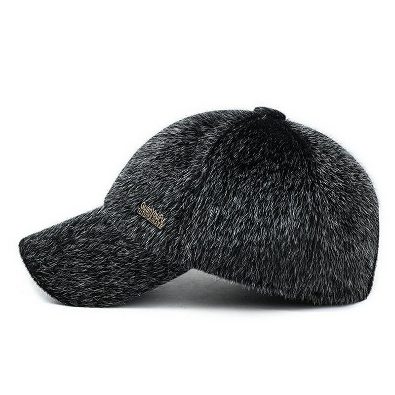 Winter Baseball Cap Men Snow Hat Wool Style Snowboarding Snapback Mens Warm  Caps  WinterBaseballChina  BaseballCap a48db825802