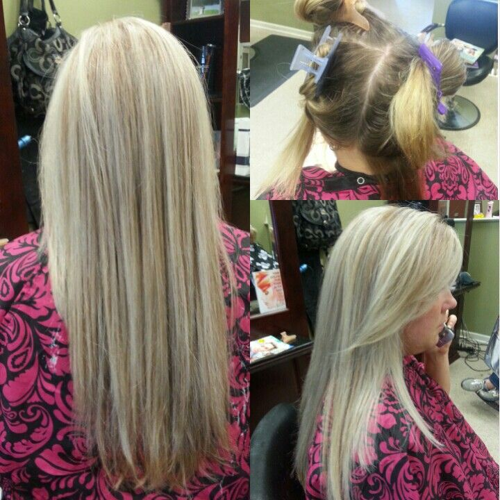 Before And After Platinum Blonde Highlights And Subtle Lowlights