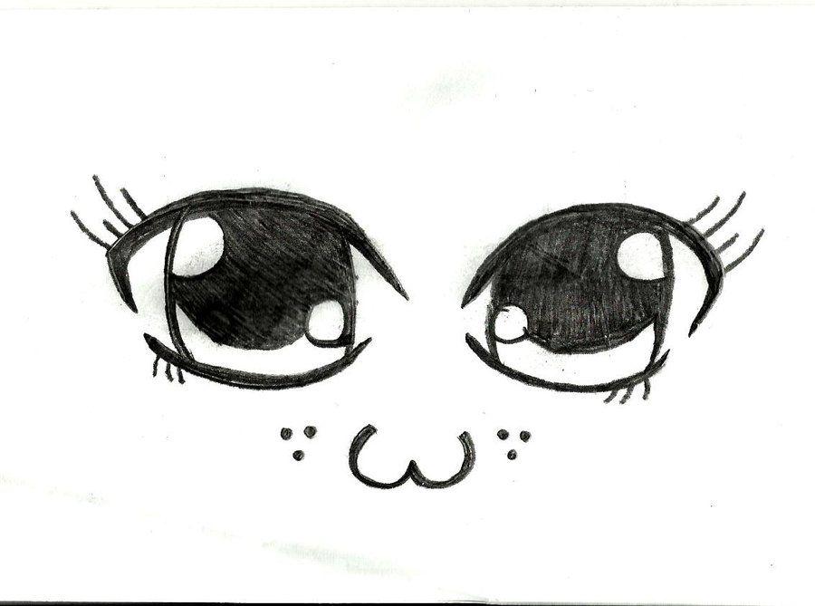 Anime Cute Eye Drawings Sketch Coloring Page Cute Eyes Drawing Cute Drawings Realistic Drawings