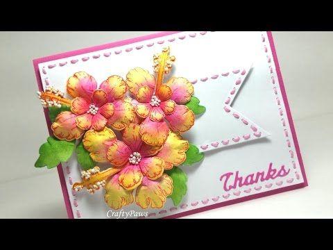 Fast and easy paper flower tutorial w heartfelt creations tropical fast and easy paper flower tutorial w heartfelt creations tropical hibiscus youtube mightylinksfo