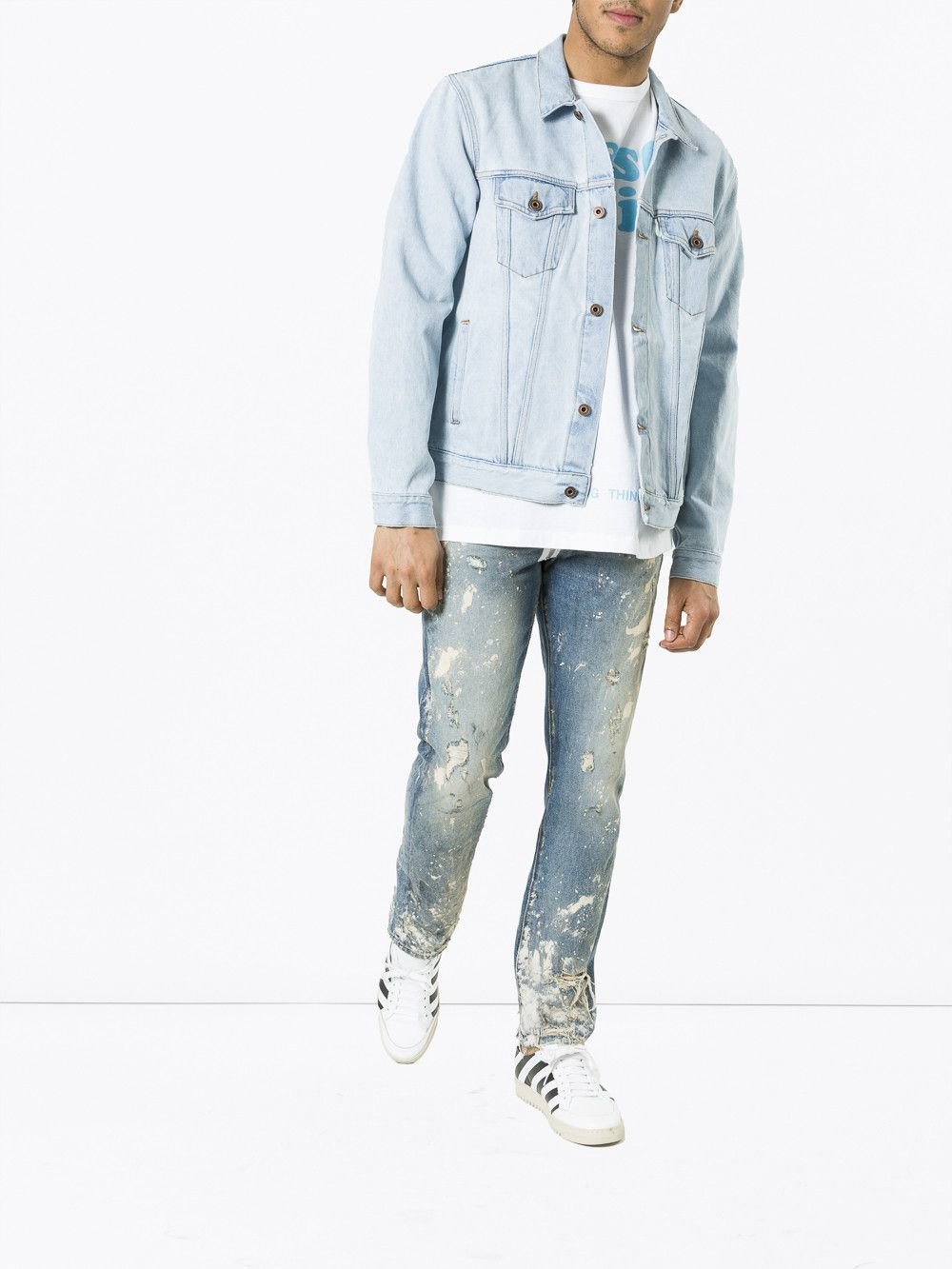 23919cd241f3 OFF-WHITE  Not Real Angel  Oversize Denim Jacket.  off-white  cloth ...