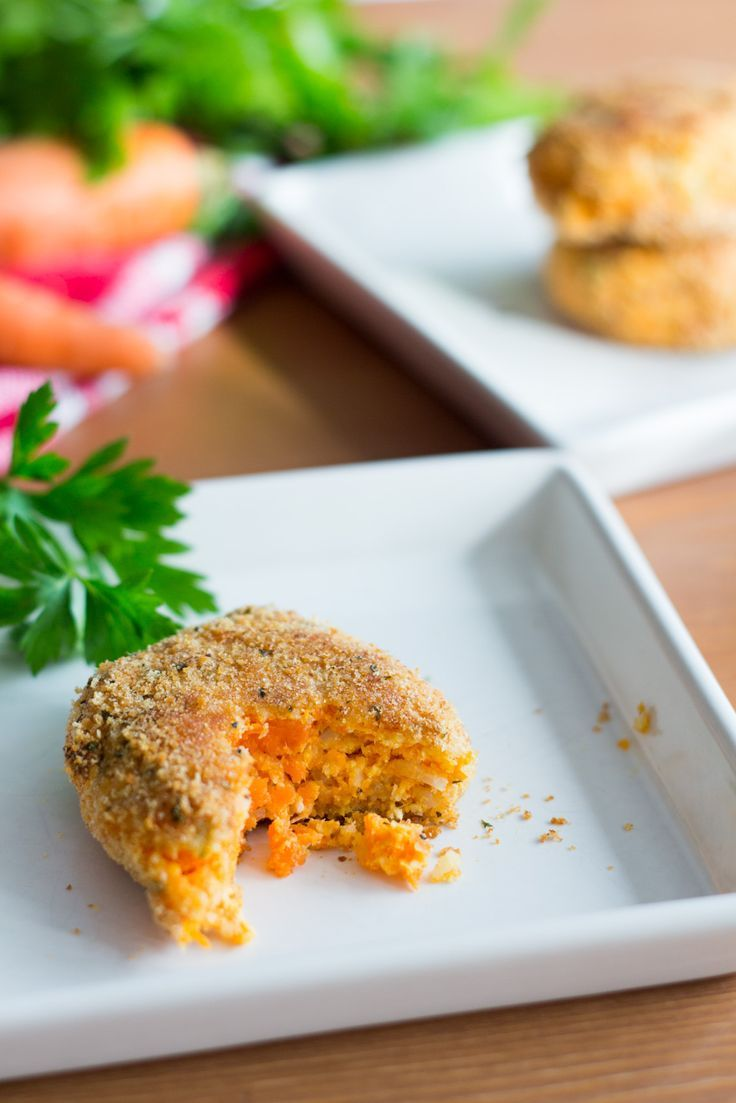 Carrots and chicken patties