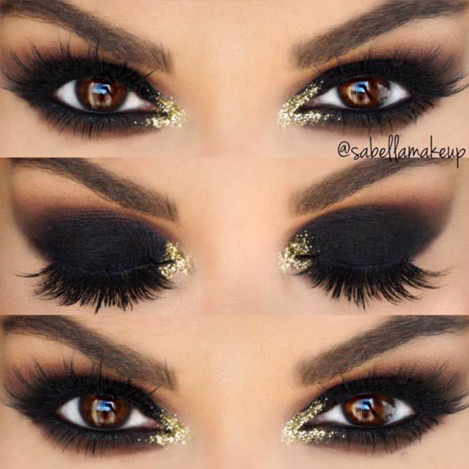24 Sexy Makeup Looks for Brown Eyes Maquillaje, Bruja y Ojos - maquillaje de bruja