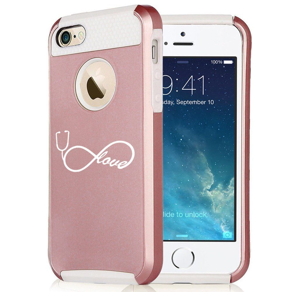 more photos b6da7 3a192 Amazon.com: Apple iPhone 6 Plus / 6s Plus Rose Gold Shockproof ...