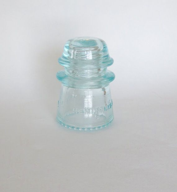 Glass Insulator Hemingray Electrical Vintage Pale Aqua Clear #16 0 ...